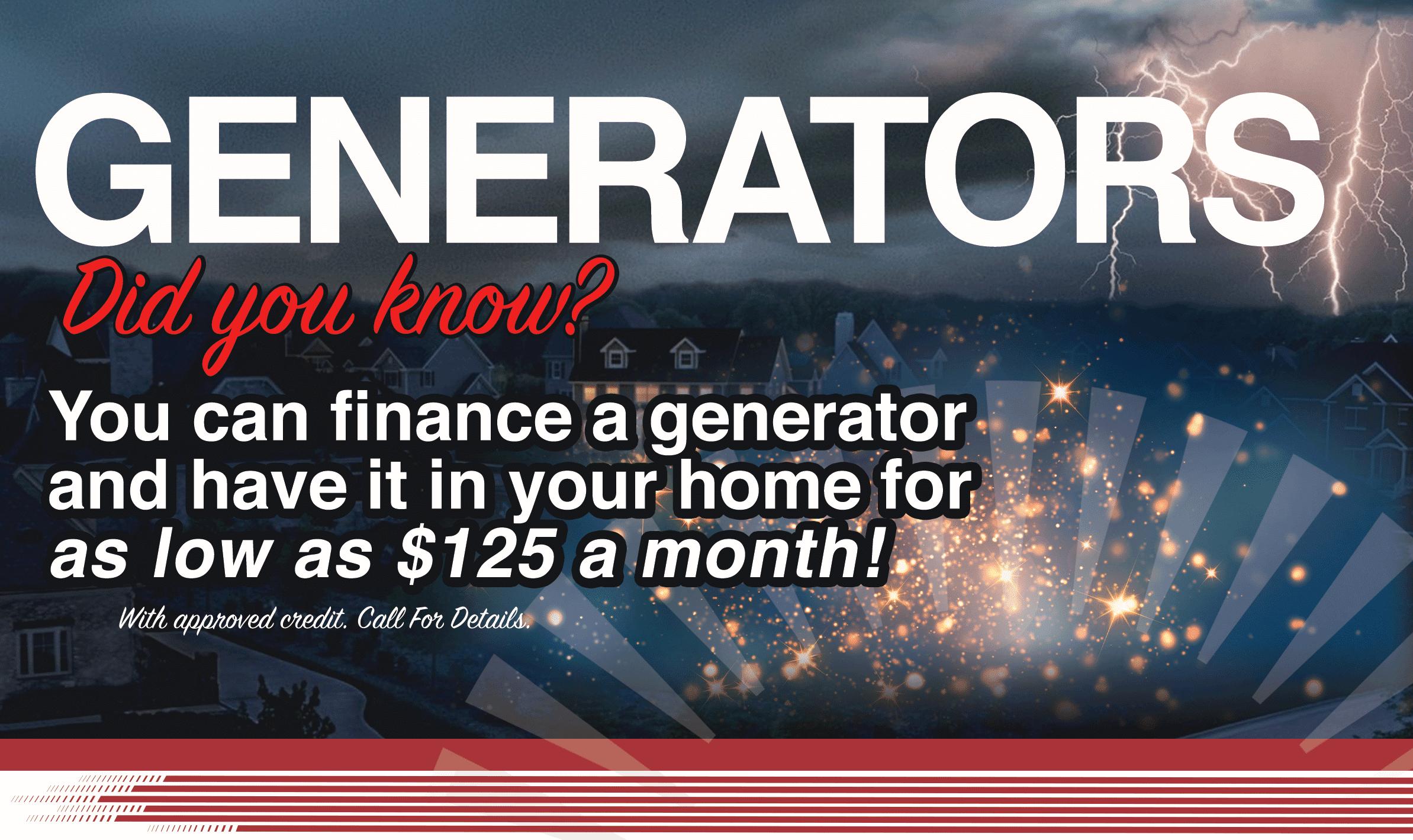 Generator Financing